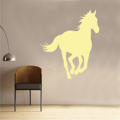 AN38 Horse Wall Sticker Art Kids Girls Riding Room Pony Equestrian