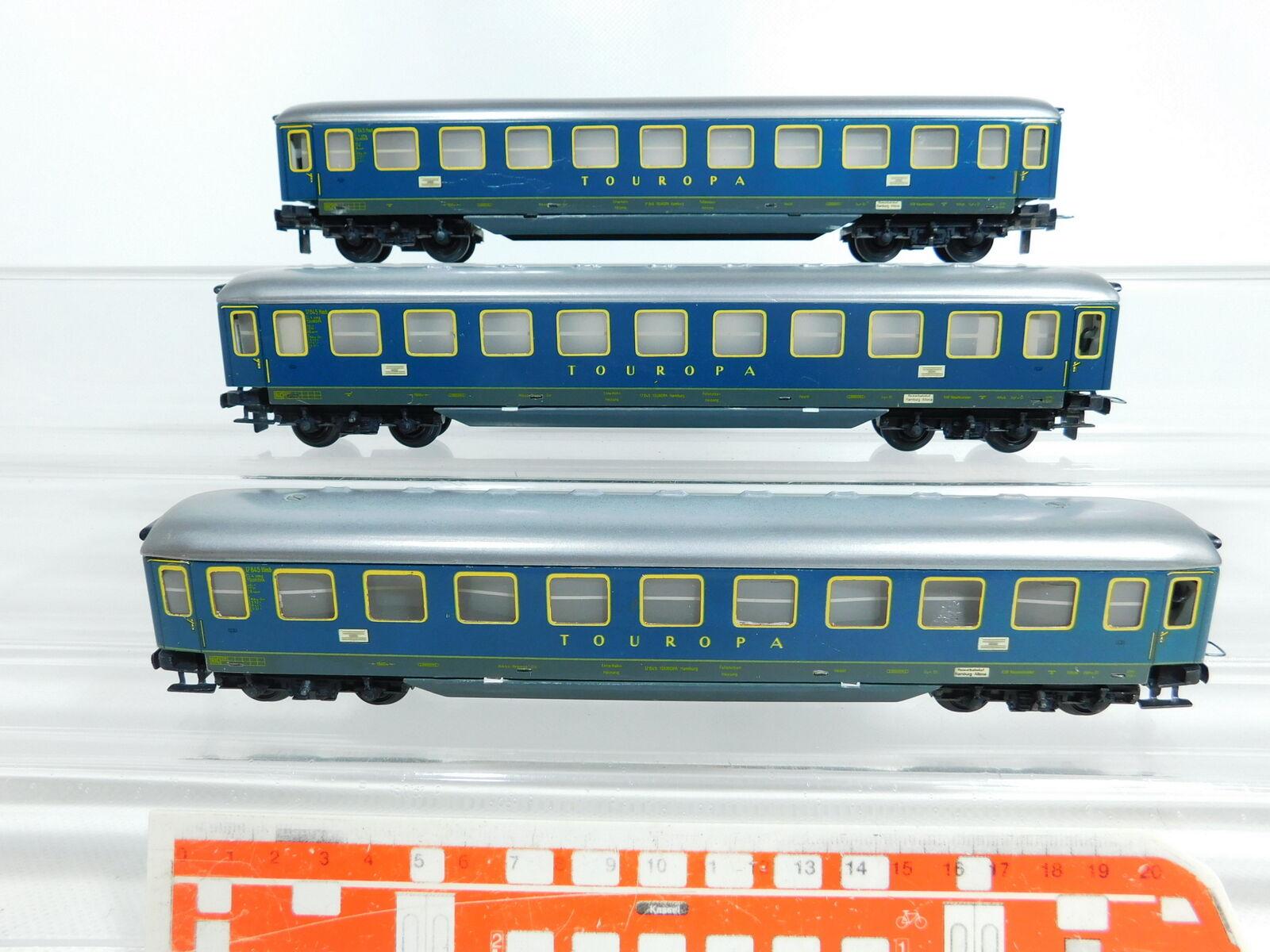 Bv916-1 x trix express h0 DC wagon passenger tin touropa 17 645 hmb