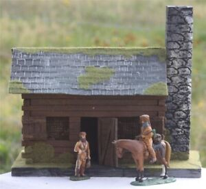 Old-West-3058-Fort-Duquesne-kleines-Blockhaus-Wild-West-zu-7cm-Sammelfiguren