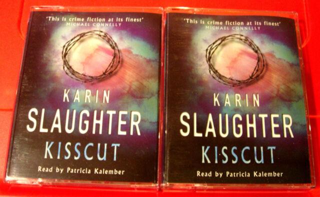 Karin Slaughter Kisscut Grant County 4-Tape Audio Book Patricia Kalember
