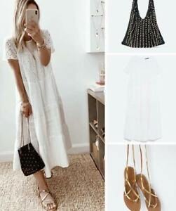 ZARA-OYSTER-WHITE-FLOWING-MIDI-LONG-COTTON-RUFFLED-DRESS-WITH-CUTWORK-EMBROIDERY