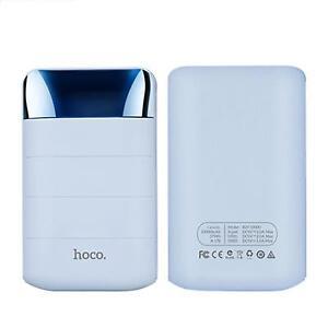 HOCO-Zusatzakku-Dual-USB-PowerBank-10000-mAh-Batterie-extern-Akku-Ladegeraet-BLAU