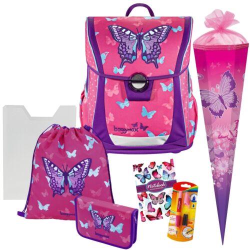 Schmetterling Sweet Butterfly mit Schultüte Baggymax Fabby Ranzen-Set 7tlg