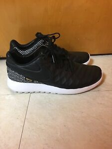 066d6ab325ab Nike Roshe Tiempo VI FC Black Leather Star Soccer Shoes 852613 002 ...