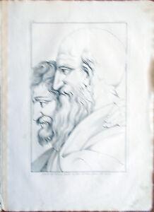 Stampa-incisione-1850-Ritratto-di-Cardinal-Bembo-Scuola-Atene-Raffaello-CLXXXIX