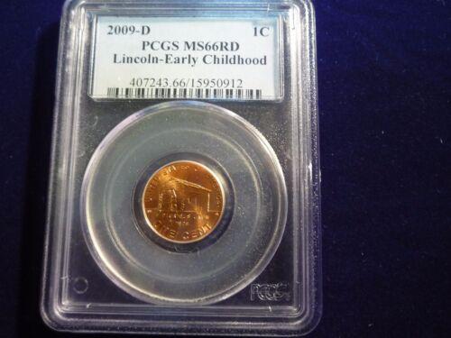 "2009  /""D/""   Lincoln Bicentennial Cent  LPI  Log Cabin  PCGS MS66"