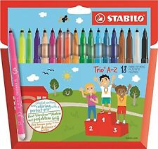 Metallic Felt-Tip Pen STABILO Trio Deco Wallet of 8 assorted colours