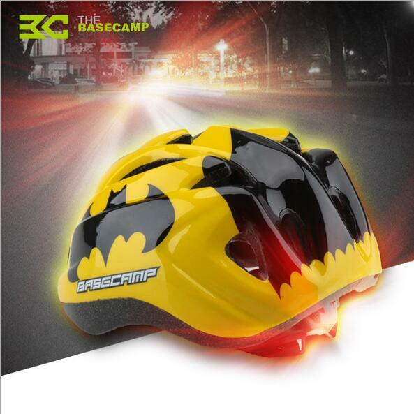 Perfect Kid Bike Cycling Helmet Tail Warning Light Predective Gear Safety Helmet