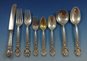 Royal-Oak-by-Gorham-Sterling-Silver-Flatware-Set-For-8-Service-68-Pieces
