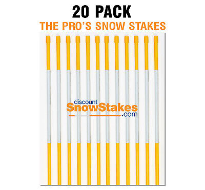 """Driveway Markers Safety signs Reflective Snow stakes 5//16/""""x3ft Blue 50Pcs"""