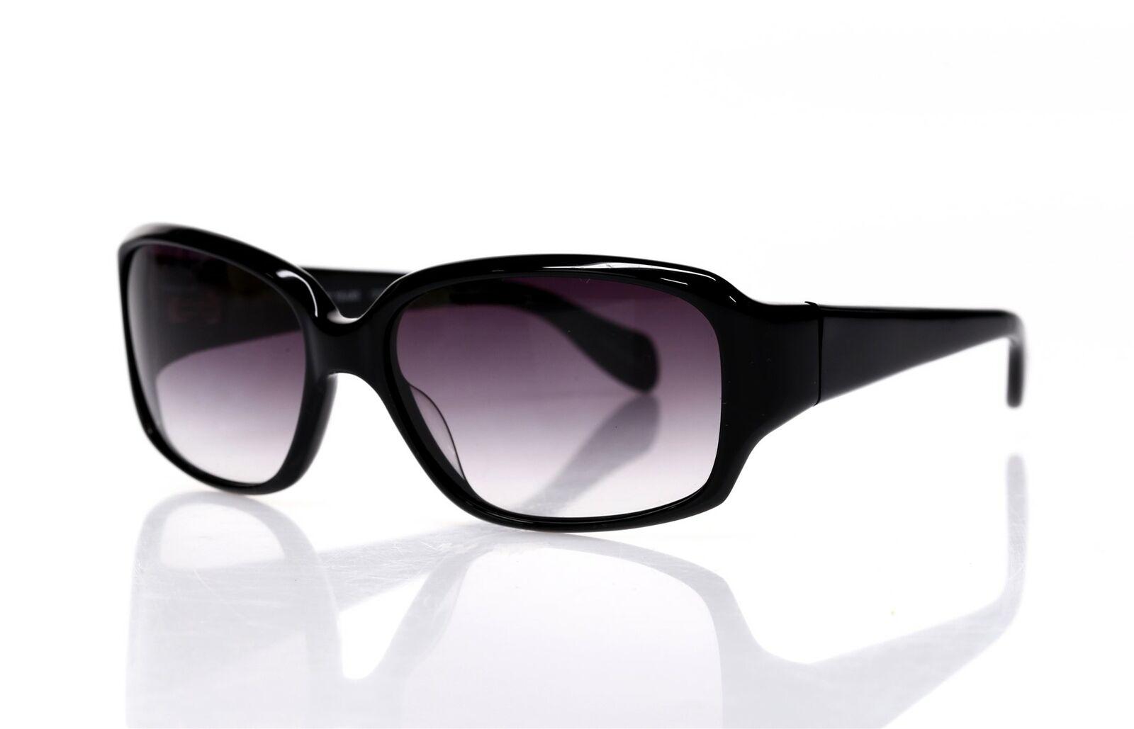 OLIVER PEOPLES Woman's Black 'Hayworth' Rectangle B Sunglasses 135458