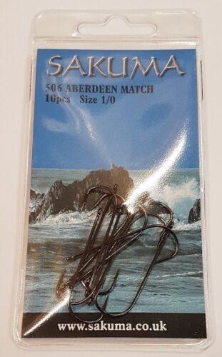 Sakuma Nouveau 506 Aberdeen à pêche crochets-toutes tailles disponibles