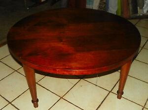 round cherry mid century coffee table ct107 ebay. Black Bedroom Furniture Sets. Home Design Ideas