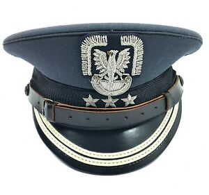 Details about COLONEL AIR FORCES OFFICER'S VISOR CAP HAT + BADGE POLISH  ARMY - AIRCRAFT BERET