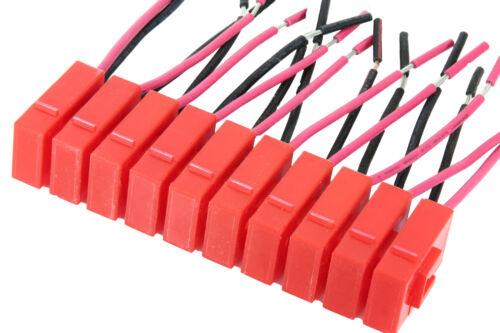 Kabel Sicherungs Halter Auto Boot Fahrrad 12 Volt Flach steck ATC ATO in Rot RS2