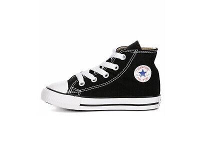 Converse All Star Hi Black Shoes Chucks Toddlers Babies Infants Boy Girls Size 3 | eBay