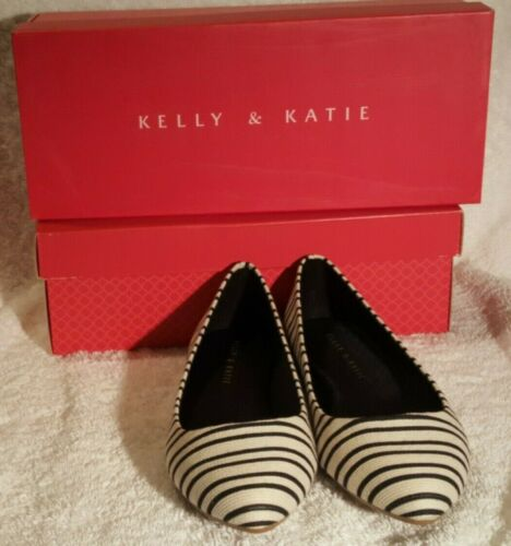 Kelly and Katie Women Shoes White//Black Flat Pirassa US Size 10 New In the Box