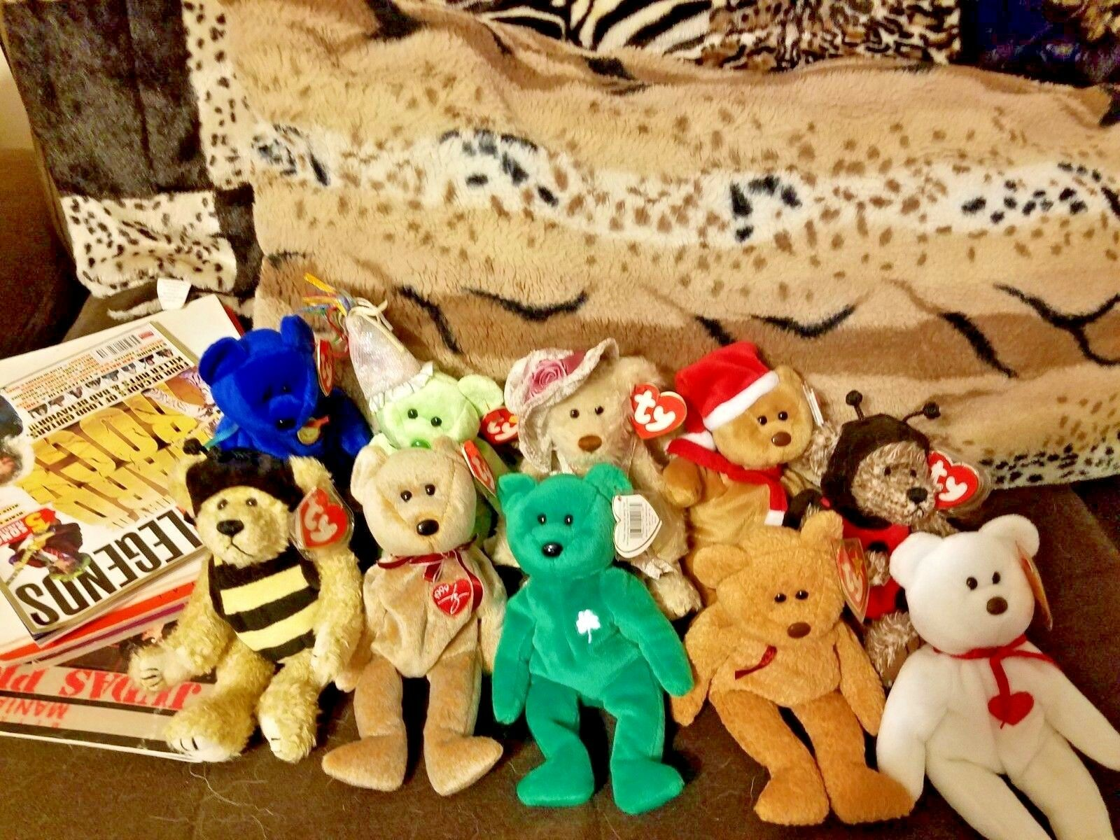 TY BEANIE BABIES , , , 100% TAGGED, PRISTINE CONDITION, A LOT RETIRED 5dc67e