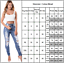 Womens Ripped Jeans Jeggings Denim Pants High Waist Skinny Stretch Long Trousers