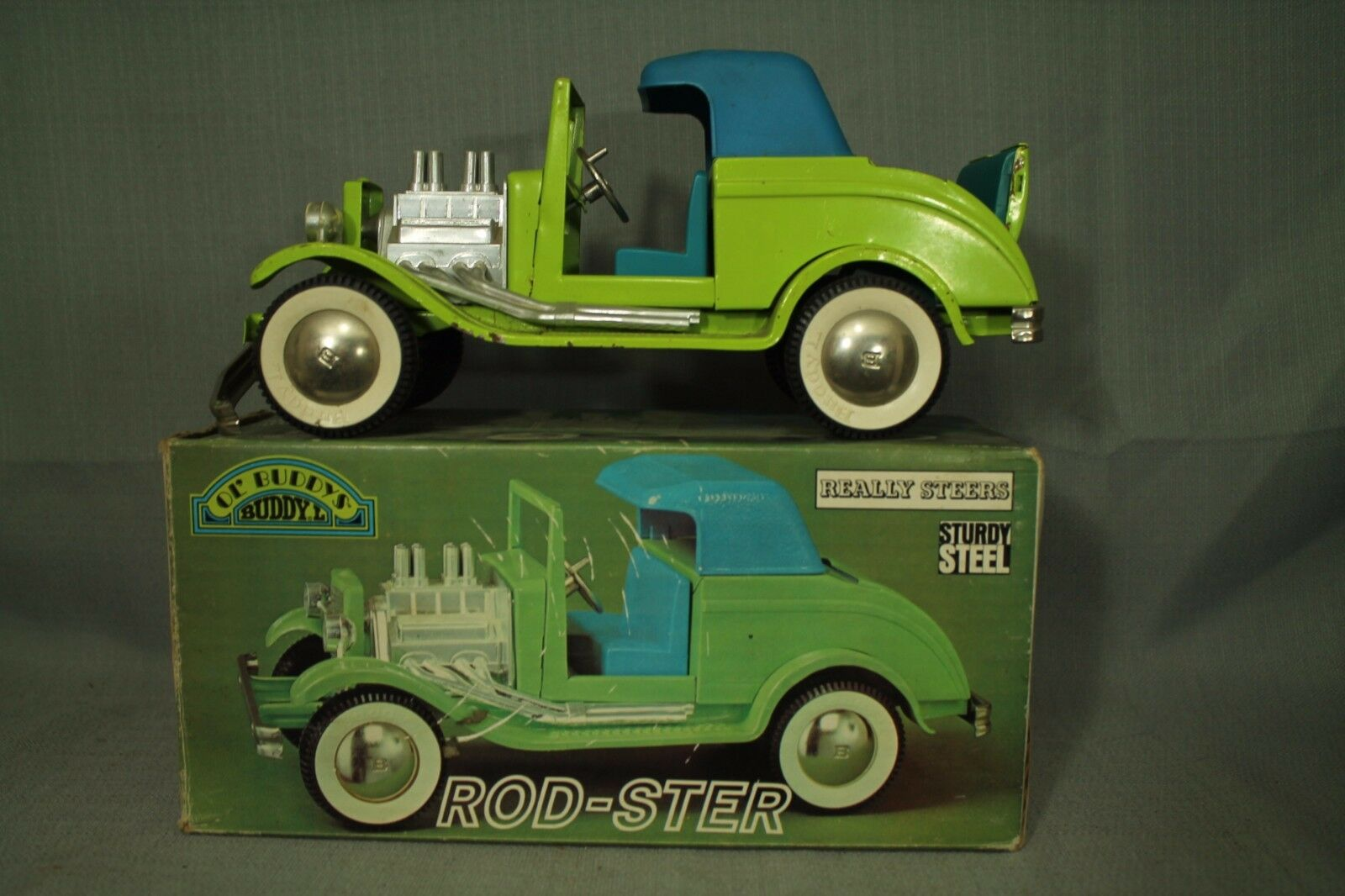 Vintage BUDDY L Ol' Rod-Ster 1930 Ford Rat Hot Rod Roadster Boîte D'Origine