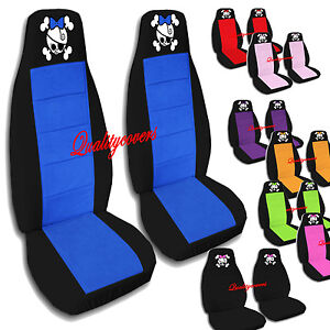 2 Front Girly Skull Seat Covers 2005 2008 Ford Escape