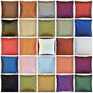 Image Is Loading Plain Dupioni Silk Cushion Cover Decorative Indian Pillow