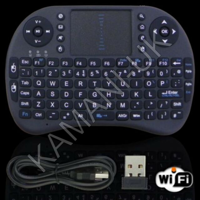 2.4G Wireles Air Keyboard Mouse Qwerty Remote Touchpad XBMC Android TV BOX PC K1