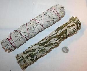 California-White-Sage-amp-Black-Mugwort-Dakota-Sage-Smudge-Stick-8-Inch-Bundles