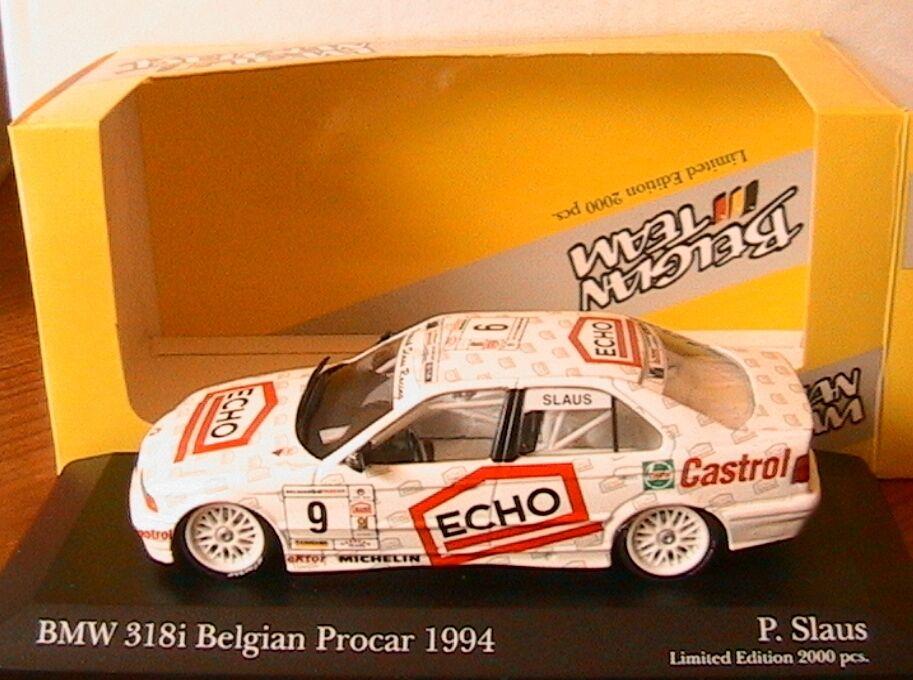 ofreciendo 100% BMW BMW BMW 318I  9 BELGIAN PROCoche 1994 SLAUS MINICHAMPS 434 942309 1 43 ECHO CASTROL  precio razonable