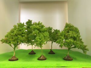 Spring-Precision-Trees-16-20cm-Seafoam-Model-Scenery-Railway-Wargame-Forest