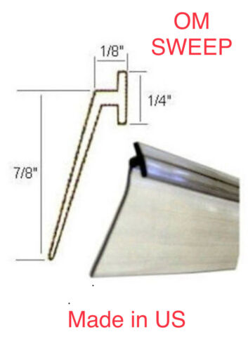 "Wipe  36/"" Original Great Quality Clear Vinyl Framed Shower Door Drip Sweep,Seal"