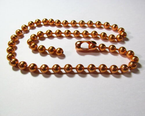 #13 Solid Copper Round /& Faceted Ball Chain Necklaces Various Lengths 6.3mm