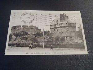 TARJETA-POSTAL-Saint-Malo-El-Castillo-El-General-y-Torreon