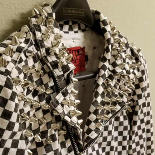 Custom Womens Tripp Checkered Studded Punk Rock De