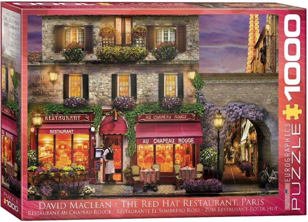 Eurographics jigsaw puzzle 1000     the red hat restaurant  paris