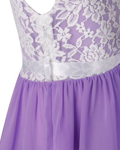 UK Flower Girls Dress Lace Party Princess Wedding Pageant Bridesmaid Prom Gown