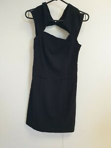 E993-WOMENS-MAJE-BLACK-OFF-SHOULDER-LBD-EVENING-FORMAL-BODYCON-DRESS-UK-8-EU-36