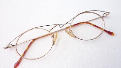 100% Wahr Brille Fassung Damen Klein Oval Ausgefallenes Design Metall Gestell Grösse M