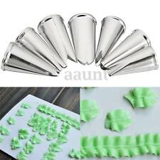 7pcs/Set Stainless Steel Leaf Icing Piping Nozzles Pastry Cake Decor Tips Tools