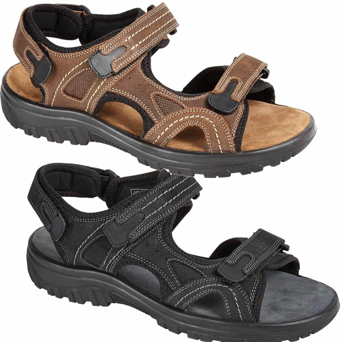 Men's Faux Leather Strap Breathable Lightweight Walking Shoes Sandals