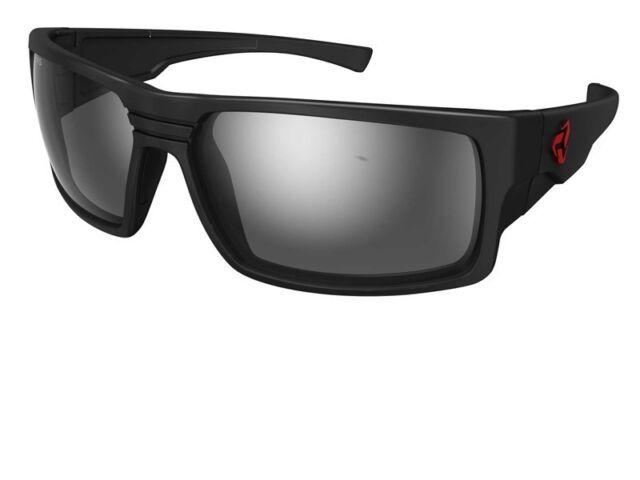 91dcde2e000 Ryders Eyewear Thorn Sunglasses R02202a Matte Black Antifog Grey silver  Flash None