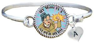 My-Mimi-is-a-Super-Hero-Comic-Look-Silver-Cuff-Bracelet-Jewelry-Choose-Initial