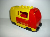 LEGO DUPLO Eisenbahn 1 E - Lok rot-gelbe Personenlok (5608)