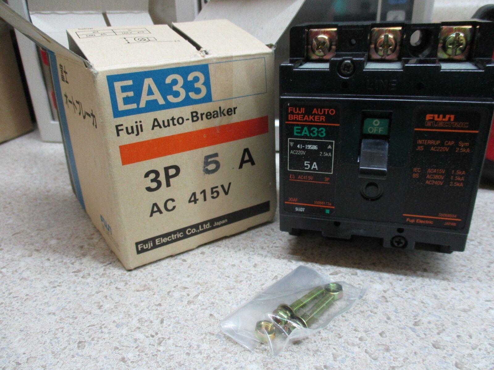 FUJI AUTO BREAKER EA33 41-19586 AC220V 2.5KA 5A M NIB