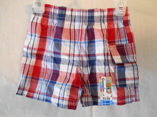 Garanimals Toddler 3-6M 6-9M Madras Shorts w//Pocket NEW