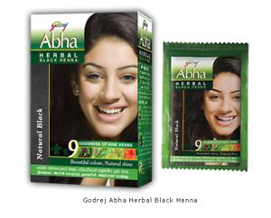 2319bd7739eaa Henna Hair Dye Black Color Godrej Abha Mehendi Mehndi Herbal Care 5 ...
