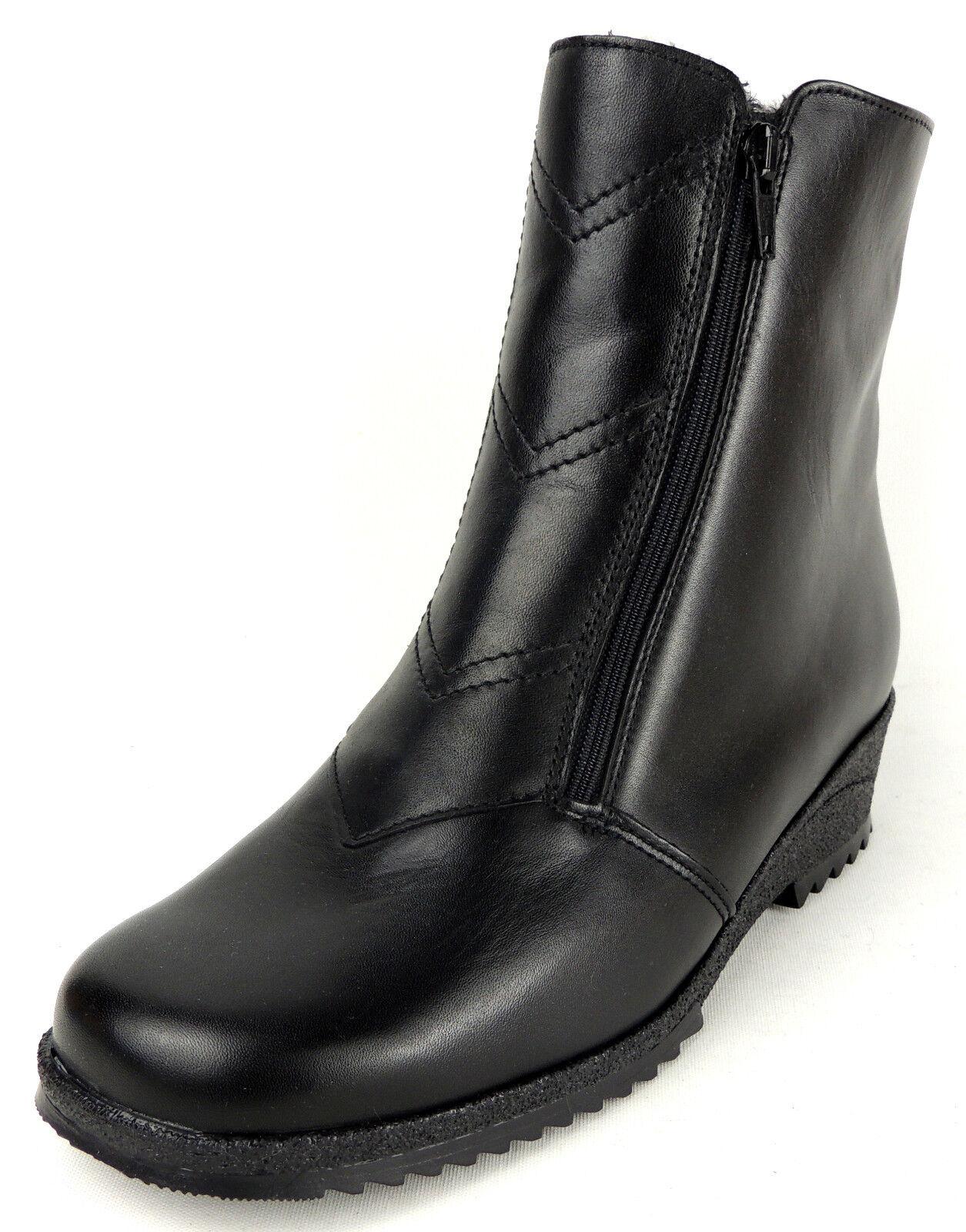 Ara animal señora botas ancho h cordero-alimentación animal Ara cuero negro b05442