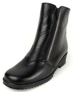ARA-Damen-Stiefel-Weite-H-LAMMFELL-FUTTER-LEDER-schwarz