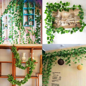 Artificial-Ivy-Leaf-Foliage-Plants-Wall-Ceiling-Hanging-Vine-Greenery-Decor-G9C