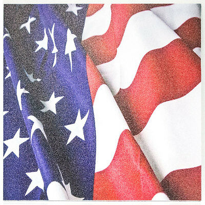 "Infused Kydex Slanted Flag Print 7.5/"" X 7.5/"" Sheet FREE SHIPPING"
